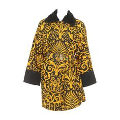 Gianni Versace Baroque Printed Silk Raincoat Fall 1991 | 1stdibs.com