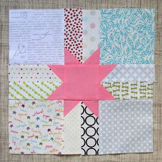 Low Volume Scrappy Star quilt block {Modern Stitching Bee} - Clover and Violet