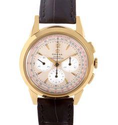 Omega Museum model met hand opwind Co-Axial uurwerk , chronograaf en pulsemeter, zilveren wijzerplaat en 18Krt gouden kast maar 1949 stuks wereldwijd€ 12850,- www.juweelco.nl