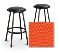 2 Orange Vinyl Seat Black Metal Custom Barstools Set (Edge Orange) by The Furniture Cove, http://www.amazon.com/dp/B005ZK80KM/ref=cm_sw_r_pi_dp_C0eMpb1N2KTCK