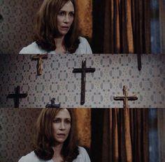 The Conjuring Annabelle, Lorraine Warren, Patrick Wilson, Vera Farmiga, Pisa, Horror, Monogram, Stitch, Flower