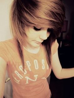 Brown scene hair.