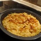 """Kaese spaetzle.  They call it """"German mac & cheese"""".  The best part is that you make your own spaetzle noodles, which is super easy.  The recipe calls for Emmantaler cheese, but you can use Jarlsberg or any Swiss-type cheese."""