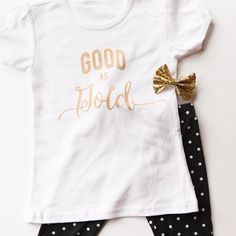 GAP Inspired DIY 'Good as Gold' Stencil T Shirt | Handmade Mood