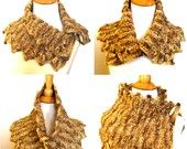 Tweed Knit Cowl Collar Capelet in Soft Luxe Gold Wool Fall Fashion https://www.etsy.com/listing/69537773/tweed-knit-cowl-collar-capelet-in-soft?ref=tre-2720616381-3 @OnFire