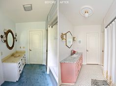 Super easy and affordable bathroom ceiling light swap!