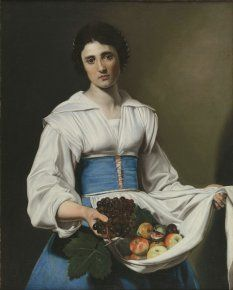 Nicolas Tournier (1590-1639) Paysanne portant des fruits, vers 1630 Huile sur toile - 91,5 x 73,5 cm Toulouse, Fondation Bemberg Photo : Fondation Bemberg