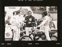 Steve McQueen during the filming of Le Mans.  Johnson Motors Inc - News