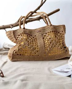 Bag Crochet, Crochet Handbags, Crochet Purses, Jute Bags, Knitted Bags, Crochet Accessories, Cotton Bag, Handmade Bags, Fashion Bags