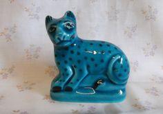 RARE Vintage Blue Mountain Pottery Figure Cat Leopard Cheetah | eBay
