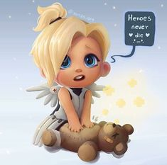 Mercy as a kid. AWWW... I just can't get enough!