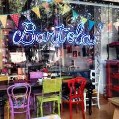 Cool 'n colourful Bartola cafe bar, Nicaragua 5935, Palermo, BA, Argentina = coolest cafe ever!