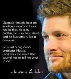 Jensen Ackles talking about Jared Padalecki ^_^ I love their relationship <3 <3 #Jibcon6 #JIB6 || via Addicted To Dean Winchester FB