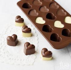 Cute heart shaped chocolates