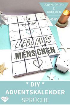 Advent calendar Tinker: print and make fun - Christmas Decorations & Holiday Decor Advent Calendar For Men, Print Calendar, Diy Presents, Make Happy, Marriage Proposals, Print Templates, Handicraft, Christmas Diy, Diys