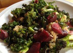 Roasted Kale & Beetroot Salad
