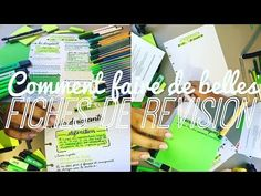 Comment faire de belles fiches de révision - YouTube School Study Tips, Pretty Notes, College Organization, School Hacks, Back To School, Journal, Mascara, Avatar, Lifestyle