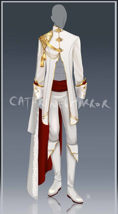 Nyroc's Ambassador uniform. After he Graduated, Nyroc became the Ambassador for the Wyld villages. The Shadow doesn't care too much for all the white though. He probably wears a black undershirt Prince Clothing, Royal Clothing, Fashion Sketches, Prince Costume, Dress Drawing, Drawing Clothes, Thomas Sanders, Quiver, Character Outfits