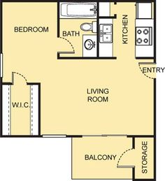 Matisse Floor Plan - 1 Bath with approximately 440 square feet. 2 Bedroom Floor Plans, Small Studio, Matisse, Square Feet, The Neighbourhood, Bath, Flooring, How To Plan, The Neighborhood