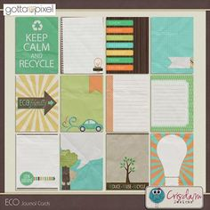 ECO Digital Scrapbook Journal Cards $3.00