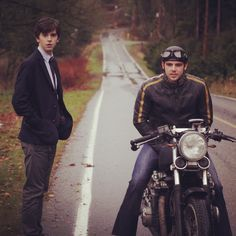Freddie Highmore and Max Thieriot as Norman and Dylan. Bates Motel, Season 1. A & E TV.