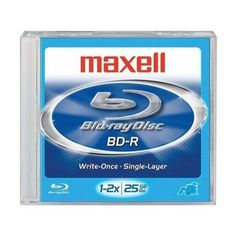 Disc Blu-ray Single Layer 25GB Write Once 4X Jewel Case by Maxell. $8.11. Disc Blu-ray Single Layer 25GB Write Once 4X Jewel Case