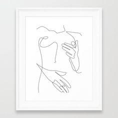 Sensual Erotic Framed Art Print by explicitdesign Minimalist Drawing, Minimalist Art, Sexy Drawings, Art Drawings Sketches, Exotic Art, Lesbian Art, Abstract Line Art, Art Sketchbook, Line Drawing