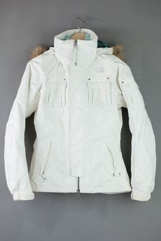 The North Face Baker Snow Ski Jacket Women Ladies Size XS White Hyvent RRP £269