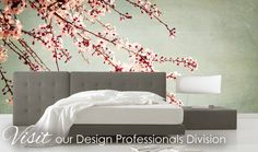 flowering branches as wall decor