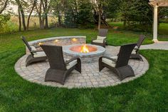Where to Build a Fire Pit: On the Patio or a Separate Area of our Landscape Desi. - Where to Build a Fire Pit: On the Patio or a Separate Area of our Landscape Design? Paver Fire Pit, Fire Pit Backyard, Fire Pit Off Patio, Fire Pit With Pavers, Back Yard Fire Pit, Garden Fire Pit, Fire Pit With Chimney, Fire Pit Next To Pool, Gas Outdoor Fire Pit