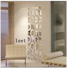Customized acrylic wall sticker 3d decorative wall mirror glass