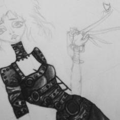 detalhes... #scissorhands #draw #illustration #drawing #desenho #ilustração #girl #personagem #inlove #amodemais