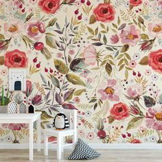 Bare wall? Let's make it beautiful! Our removable wallpaper is an easy way to channel professional style (without having to hire a professional!) to transform your interior space and evoke instant joy. You'll love that our wallpaper is: 100% removable and will not damage your walls. Handmade in our North American studi Nursery Wallpaper, Wallpaper Size, Wallpaper Roll, Peel And Stick Wallpaper, Wallpaper Ideas, Wallpaper Decor, Best Removable Wallpaper, Hallway Wallpaper, Temporary Wallpaper
