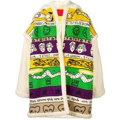 Jc De Castelbajac Vintage graphic printed oversized jacket ($1,000) ❤ liked on Polyvore featuring outerwear, jackets, coats, multicolor, oversized jackets, hooded jacket, colorful jackets, oversized hooded jacket and vintage jackets
