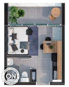 hotel plans Vitacon – Life is on Small Apartment Layout, Apartment Design, Small Apartments, Studio Apartment Floor Plans, Apartment Plans, Apartment Living, Apartment Ideas, Living Room, Layouts Casa