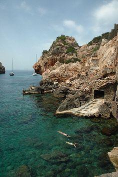 Cala de Deia in Mallorca Island, Spain