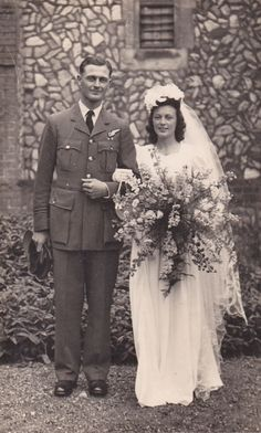 What do you wear to a wartime wedding? Find out how these couples coped with shortages and rationing to make their wedding a day to remember.