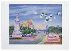 Monumento de los españoles Lámina - 35 x 50