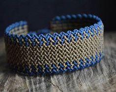 Macrame bracelet for men, UNISEX macrame bracelet, Macrame cuff bracelet, Gift for him