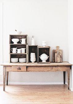 = tabletop crates display