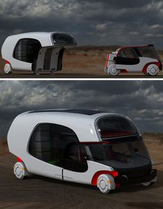 Modular Motorhome: Hybrid Camper Car + Caravan Combo | Designs & Ideas on Dornob