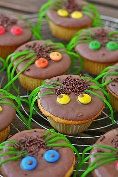 Spinnenmuffins für Halloween