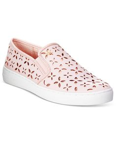 ca40a1c635c Michael Kors Keaton Floral Perforated Slip-On Sneakers Shoes - Sneakers -  Macy s