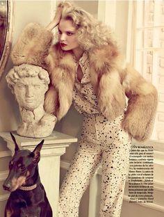 enchantedchildren:  glam in a pantsuit  Magdalena Frackowiak
