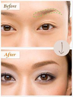 「絶対美人眉」とは、ひとりひとりの顔の骨格に合わせた眉のこと。今度こそ挫折せずに「運命の眉」に出会える方法、眉毛の正しい整え方をヘアメイクアップアーティストの西山舞さんに教えてもらいました!(12ページ目) Bride Makeup, Diy Makeup, Beauty Makeup, Hair Beauty, Asian Eye Makeup, Eyebrow Makeup, Makeup Lessons, Asian Eyes, Hair And Makeup Artist