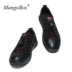 4b6f5403f61 Luxusní módní značkové módní pánské boty Komfortní pánské běžné kožené boty  s těžkou nosností černé boty pro mladé chlapy