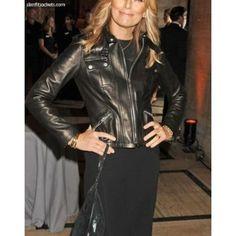 Patti Hansen Strap Pocket Jacket. #Womenswear #leatherjacket #coat #outfit #Fashion #Kids #Women #Jacket - For more queries visit: Slimfitjackets.com