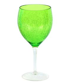 Another great find on #zulily! Green Crackle Wineglass by DEI #zulilyfinds