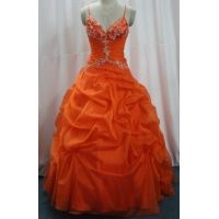 Cheap Fashion Ball Gown Floor Length Embroidery Spaghetti Straps Masquerade Prom Dresses wholesale