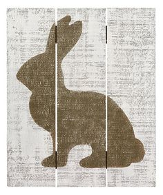 Loving this Rabbit Silhouette Wall Sign on #zulily! #zulilyfinds